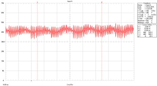 Пульсации в звене постоянного тока 1-го ПЧ