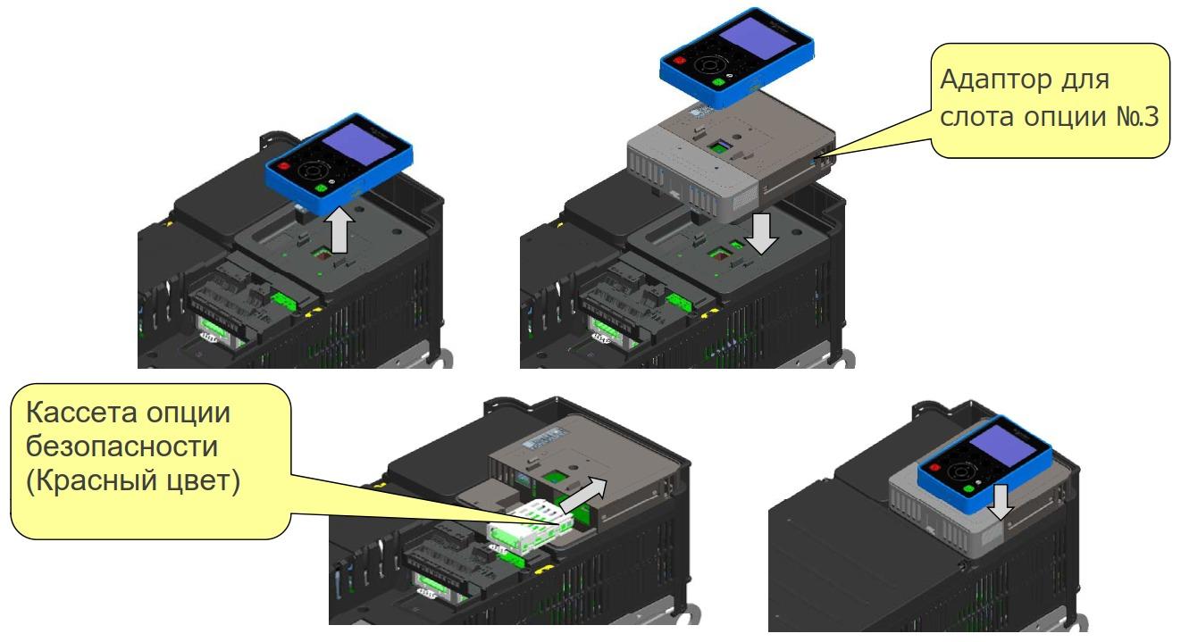 Установка опционального модуля безопасности в частотник VF-AS3 Toshiba