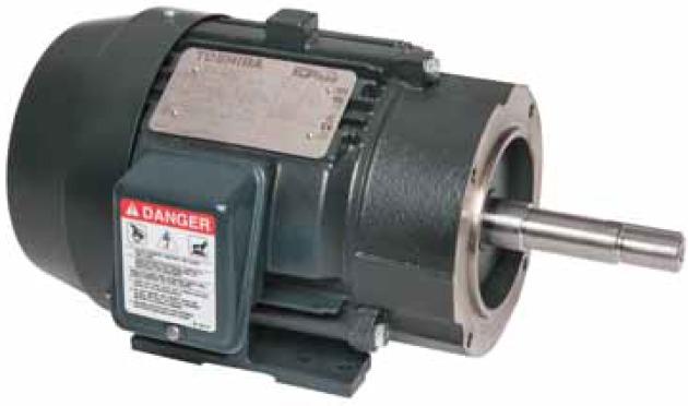 Трехфазные электродвигатели IP55 Toshiba EQP Global® Close-Coupled Pump для центробежных насосов с непосредственным приводом на вал