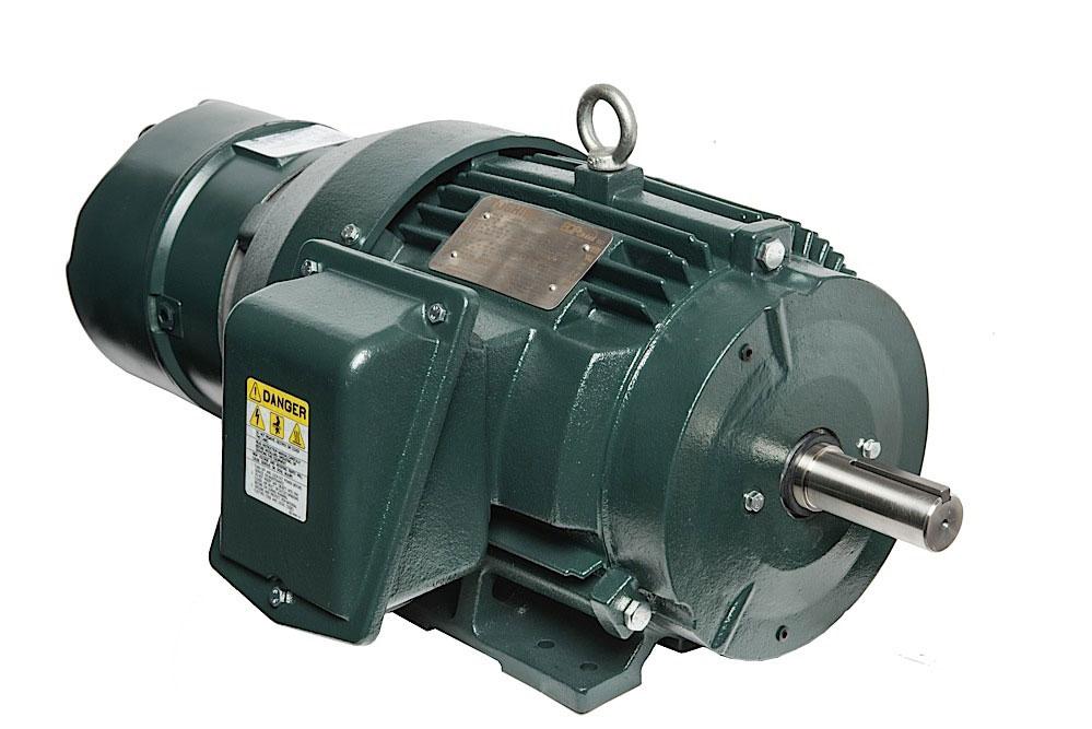 Трехфазные электродвигатели IP55 Toshiba до 22 кВт с полностью закрытым вентилятором EQP Global® Brake Motor для конвейеров, кранов, лебедок, редукторов, складского оборудования