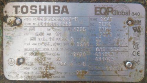Электродвигатель Toshiba 0604XSSB41A-P