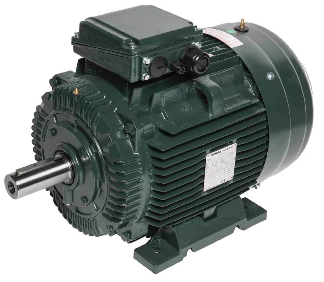 Синхронные электродвигатели Toshiba с полностью закрытым вентилятором и верхней коробкой клемм TEFC Tosh-ECO™ IEC Permanent Magnet Motor