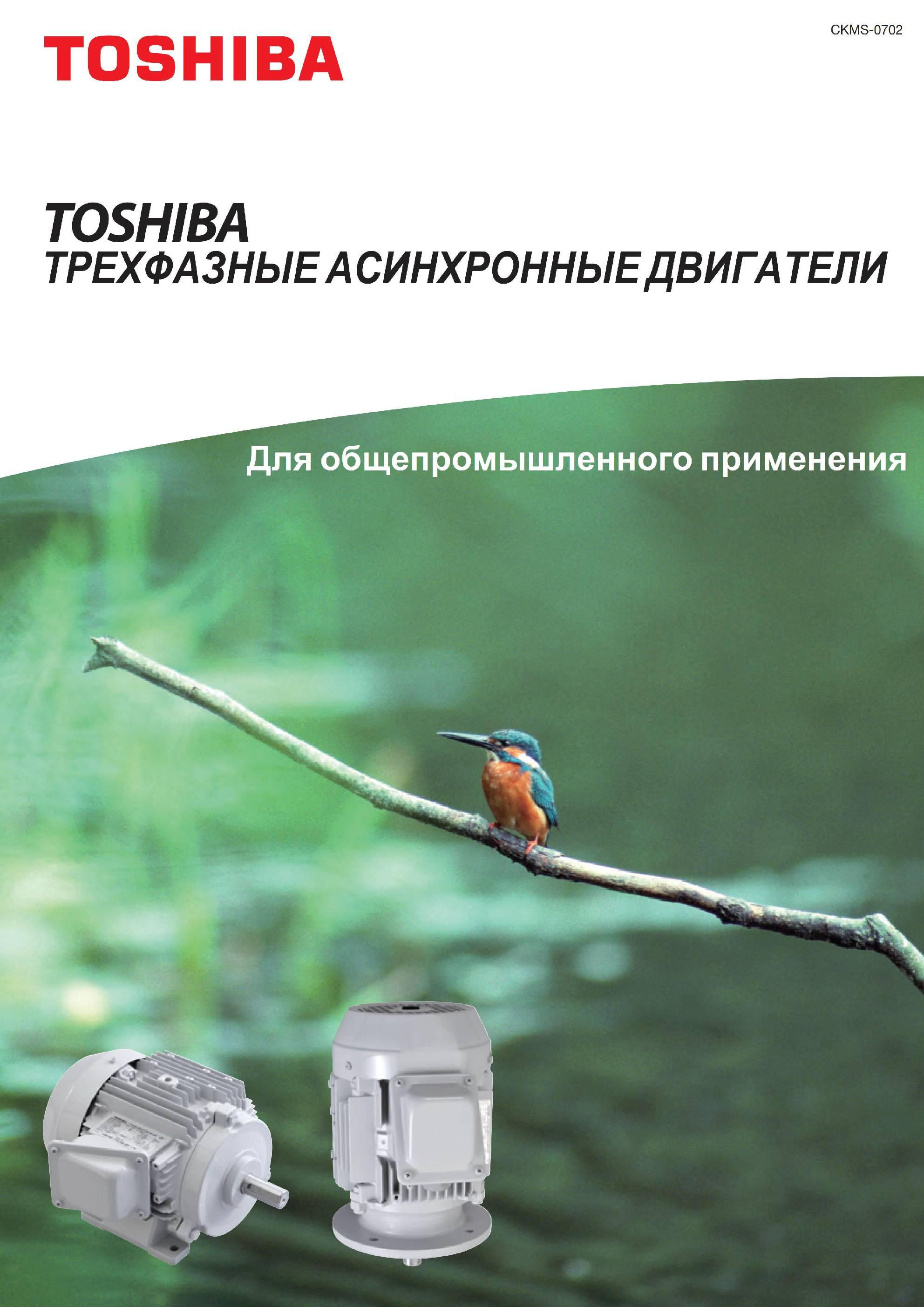 Низковольтные электродвигатели IK IKK TIKK Toshiba общепромышленного применения 0,37-45 кВт