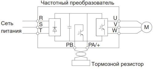 Схема подключения тормозного резистора к частотнику Toshiba